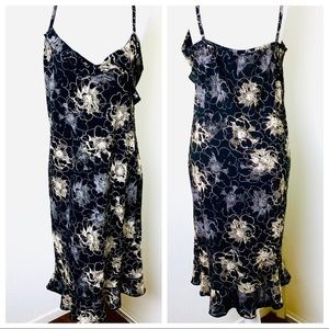 PRETTY GIRL RUFFLED FLORAL Skinny Straps DRESS